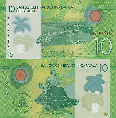 Pick New UNC 2015 Polymer Plastic NICARAGUA BANKNOTE 50 Cordobas