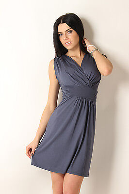 Sexy & Elegant Women's Dress Sleeveless V Neck Tunic Size 8-12 8958 New