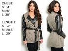 2015 Womens Slim Double Breasted Trench Coat Long Outwear Overcoat Windbreaker *