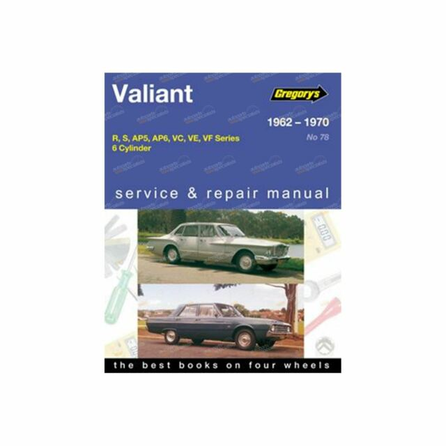 Gregory's Repair Manual Chrysler Valiant R S AP5 AP6 VC VE VF 1962~1970 6 Cyl