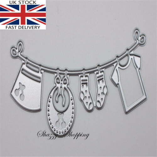 Baby Clothes Washing Line metal cutting die cutter UK Seller Fast Posting