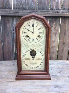 E N Welch Ithaca Calendar   Shelf Clock