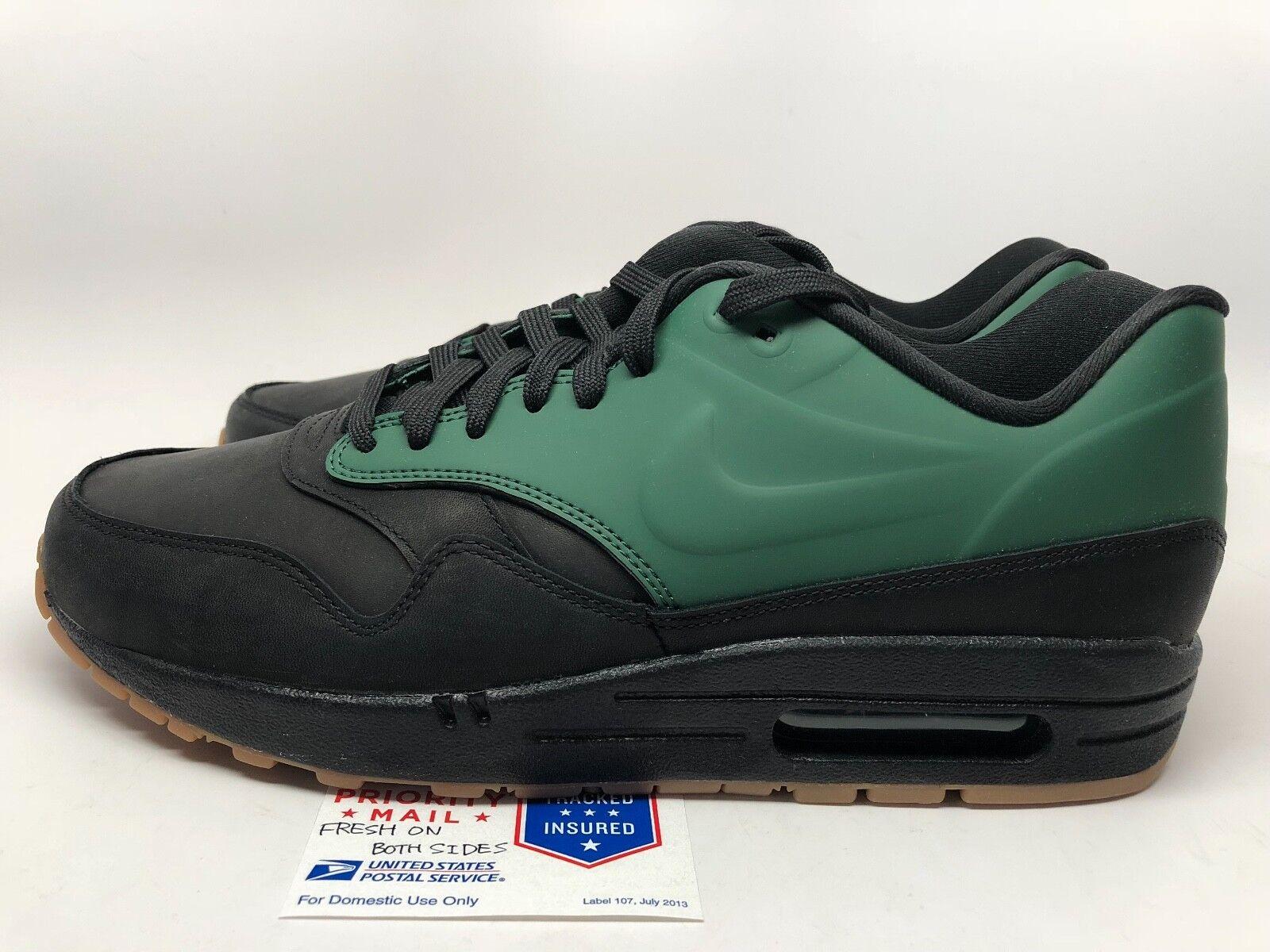 Nike Air Max 1 VT Black Green QS Mens sz 9 New
