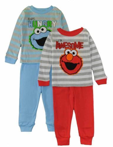 Sesame Street Toddler Boys Two Cool Buddies 4pc Pajama Pant Set Size 2T 3T 4T