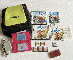 Nintendo-Dsi-Pink-Bundle-w-7-Games-Charger-amp-Carry-Case-Cooking-Mama-2