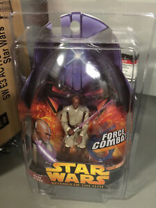 Star Wars Revenge Of The Sith Mace Windu Force Combat Action Figure Ebay