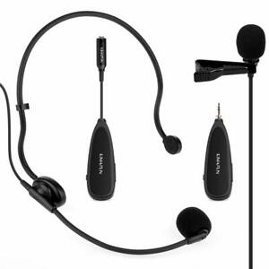 d8dcbf61b77 2.4G Wireless Headset+Lavalier Microphone Mics with Voice Amplifier ...
