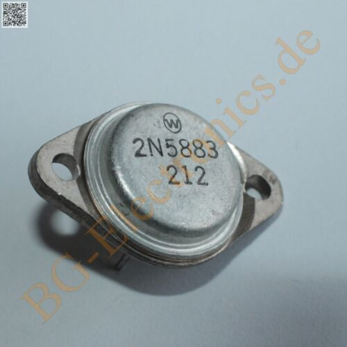1 x 2N5883 PNP Power Ttransistor 200W 25A 60V  Motorola TO-3 1pcs