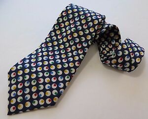 Turnbull-amp-Asser-Neiman-Marcus-Silk-Colorful-Dots-Necktie-Hand-Made-in-England