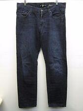 7 for all man kind slimmy cut dark blue jeans size 34/33 (36/33) EUC