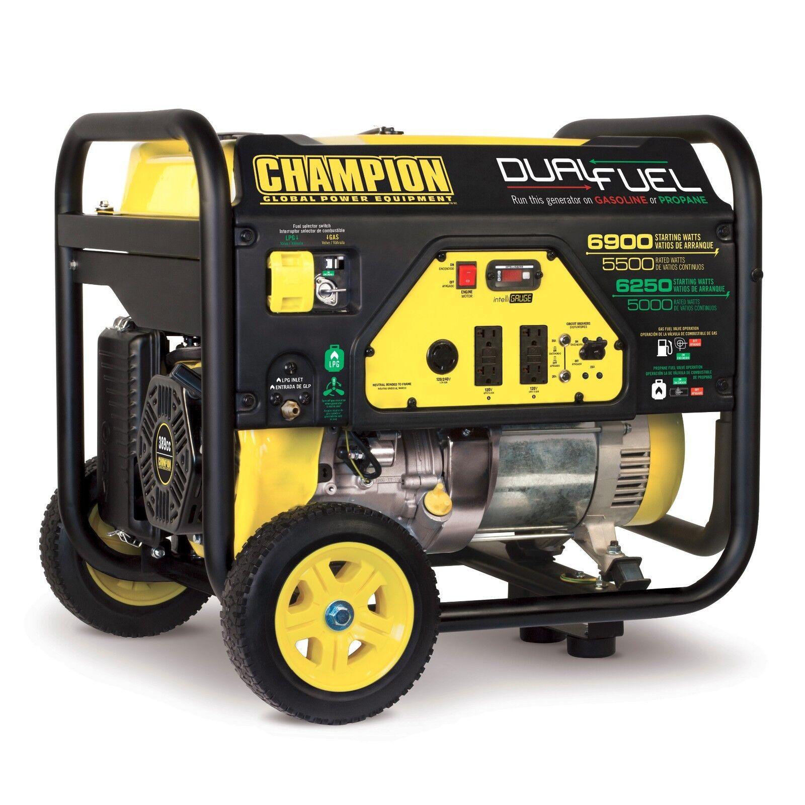 Champion Power Equipment Portable Generator 5500 Watt Dual Fuel 4 Stroke Engine For Sale Online Ebay