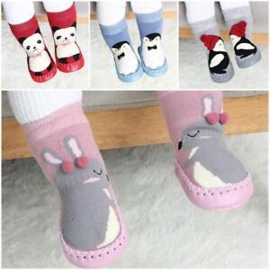 Infant Baby Girl Boy Toddler Anti-slip Warm Slippers Socks Cotton Crib Shoes