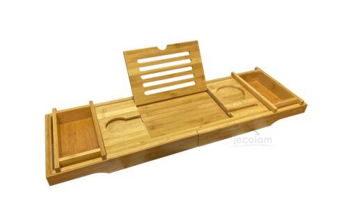 Badewanne Rechteck GRATIS Ablage Bambus Wanne Modern 140 150 160 170 x 70 cm