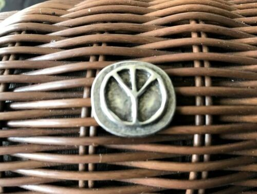 Bring Back The 60/'s PROTEST WAR 2 PEACE SIGN SYMBOL PEWTER POCKET COINS