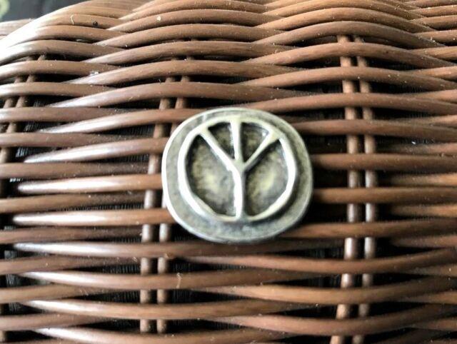 Bring Back The 60's PROTEST WAR 2 PEACE SIGN SYMBOL PEWTER POCKET COINS