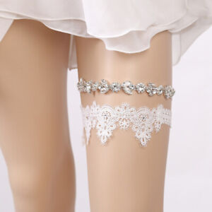 best website ccdbc f5cb4 Details zu 2Pcs Hochzeit Party Braut Strass Spitze Bein Strumpfband  Oberschenkel Ring