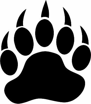 Bear Paws sticker decals 6 x4.5 inch Red vinyl