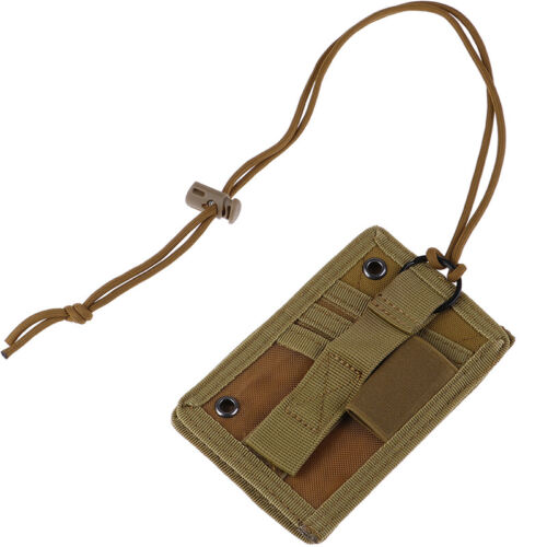 Tactical ID Card Case Patch Neck Lanyard and Credit Card ID Card Holder HU