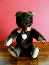 Steiff Original Teddy Dark Chocolate Brown 35cm - All IDS - VGC