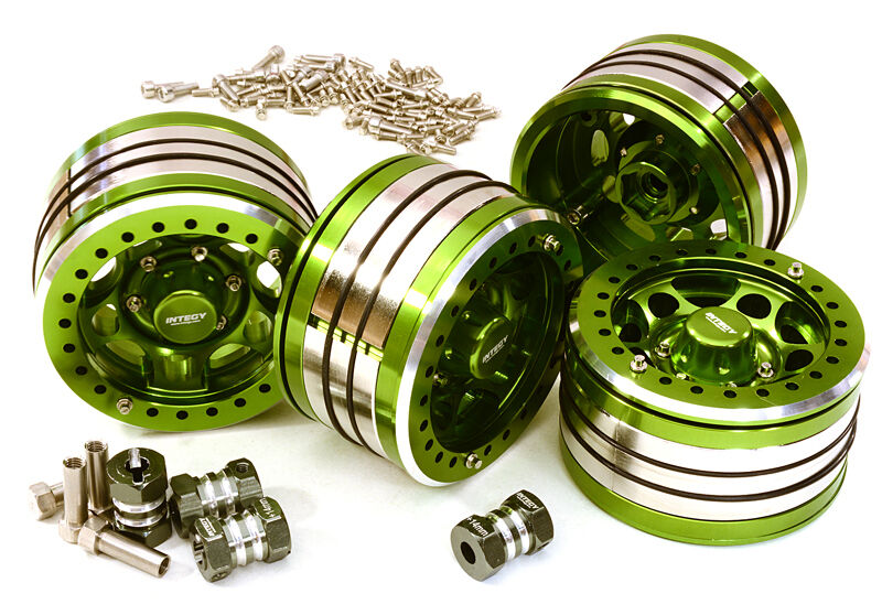 C27033verde 2.2x1.5-in. High Mass Wheel(4)w 14mm OffSet Hubs for 1 10 Crawler