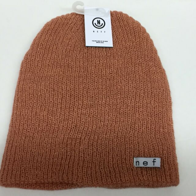 37d818653ca Neff Unisex Fold Daily Heather Peach Sand Beanie Rib Knit Hat Cuff Winter  Snow