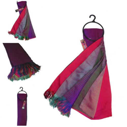 Signore Splendido Arcobaleno Colorato Luminoso Caldo Multi Colore Sciarpa Wrap Scialle