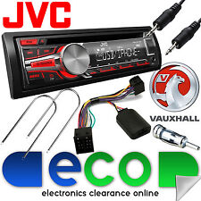 Vauxhall Astra G Mk4 Jvc AUTO ESTÉREO Radio Cd Mp3 Usb Aux In & Volante Kit