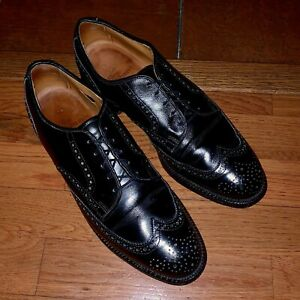 Allen-Edmonds-Men-s-10-5-M-Black-Leather-Bradley-Wingtip-Oxford-Dress-Shoe