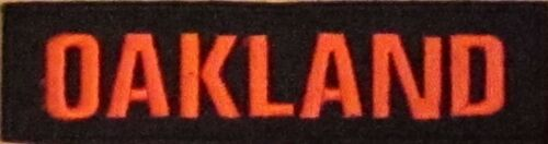 OAKLAND CITY EMBLEM MILITARY MOTORCYCLE BIKER MC CLUB IRON ON VEST PATCH R-11