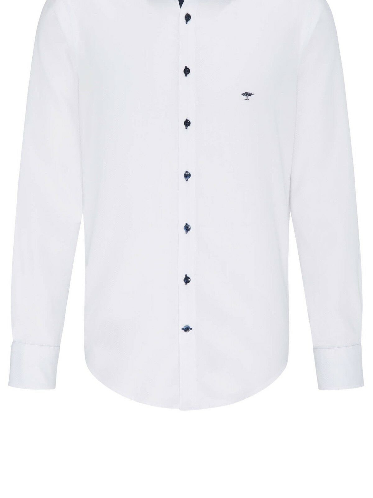 FYNCH HATTON® Premium Casual Structure Shirt White  - XXL New SS19