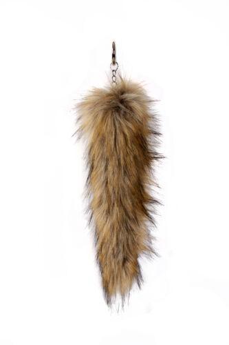 Nouveau Haut Femmes Moelleux en fourrure synthétique douce Tail Keychain Porte-clés Charme handbags