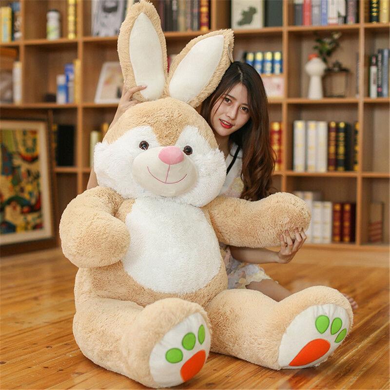 59 Giant Big Plush Bunny Toy Soft Stuffed Animal Rabbit Doll Kids