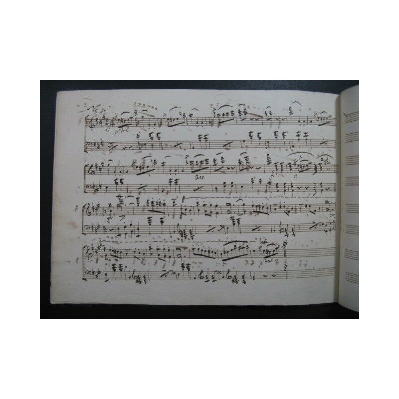 STRAUSS Père Johann Piano Das Leben ein Tanze Manuscrit Piano Johann XIXe partition sheet mus 99b992
