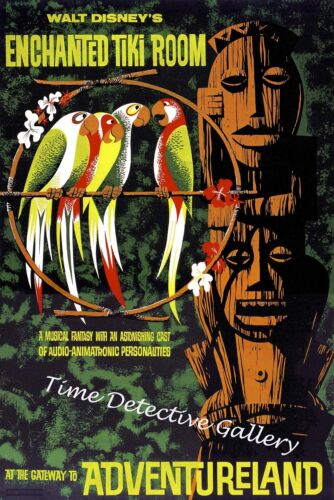 Available in 5 Sizes Disneyland Enchanted Tiki Room Poster