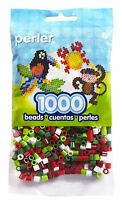 Bulk Buy: 5 X 1,000 Perler Christmas Mix Color Iron On Fuse Beads : 80-15134