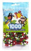 Bulk Buy: 5 X 1,000 Perler Christmas Mix Color Iron On Fuse Beads : 80-15134