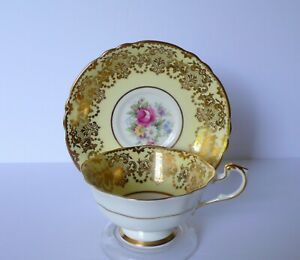 Paragon-Pale-Yellow-Floral-Bone-China-Cup-amp-Saucer-Set
