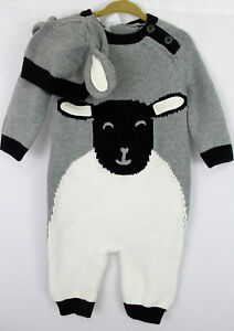 9c47772d9db Hanna Andersson Gray Sheep Sweaterknit Romper Hat Set Baby Size 60 3 ...
