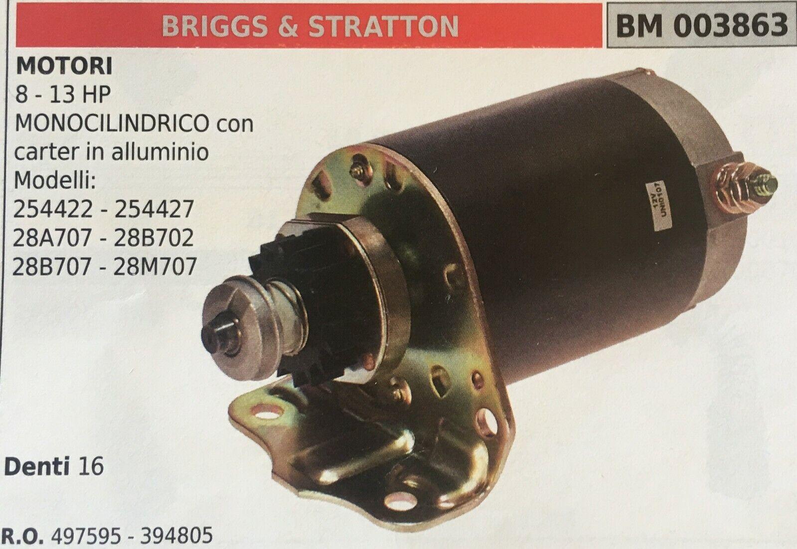Motor de Arranque Brumar Briggs & Stratton BM003863 8-13 Caballos Fuerza