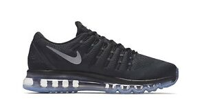 Details about Nike $190 Air Max 2016 BlackWhiteGrey Running Shoes (806771 001) Size 8