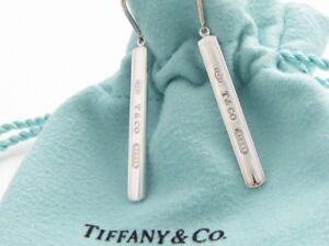 7950cb971 Tiffany & Co. Sterling Silver 1837 Bar Drop Dangle Earrings in ...