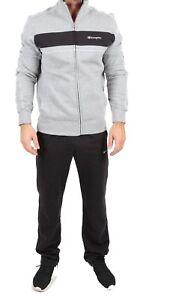 competitive price 5a09a a4a17 Dettagli su Abbigliamento uomo tuta felpata CHAMPION 209118 357 grigio  melange nero