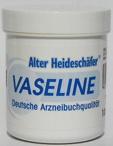 Reine-weisse-VASELINE-deutsche-ARZNEIBUCH-QUALITAT-100-Rein-Alter-Heideschaefer