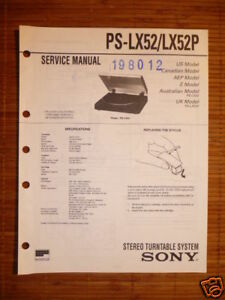 Tv, Video & Audio Motiviert Service-manual Sony Ps-lx52 Turntable original!!