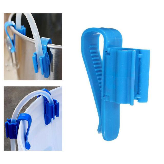 2x Brew Clip Pipe Syphon Tube Hose Flow Control Aquariums Fish Tank Clamp Holder