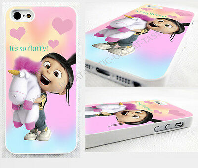 DESPICABLE me AGNES fluffy PONY unicorn,minions case,cover for apple iPhone,iPod