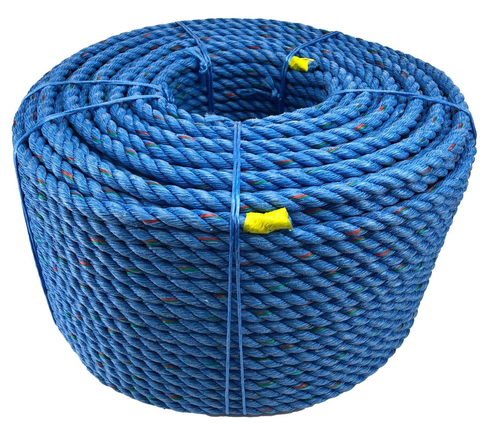 18mm Azul Poliacero Cuerda X 50 Metros, de Descenso, Reparación, Árbol Cirugía