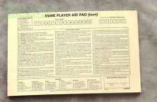 1978 Avalon Hill Frank Herbert's DUNE Original Player Aid Pad Replace Used Lost