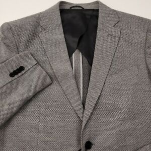 Rodd-amp-Gunn-Men-039-s-Wool-Fife-Street-Blazer-Jacket-XL-Sports-Fit-Birds-Eye-Gray