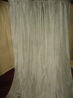CROSCILL PARFAIT SILVER SAGE (PAIR) UNLINED PANELS 42 X 96